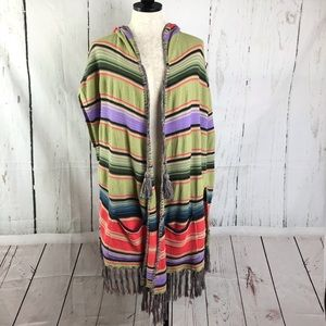 Anthropologie Moth Calexico Fringe Beach Poncho